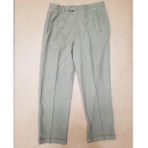 Claiborne Work Slacks Beige Pants Mens Size 34x32